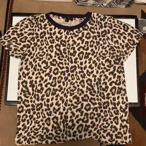JCrew leopard print tee!
